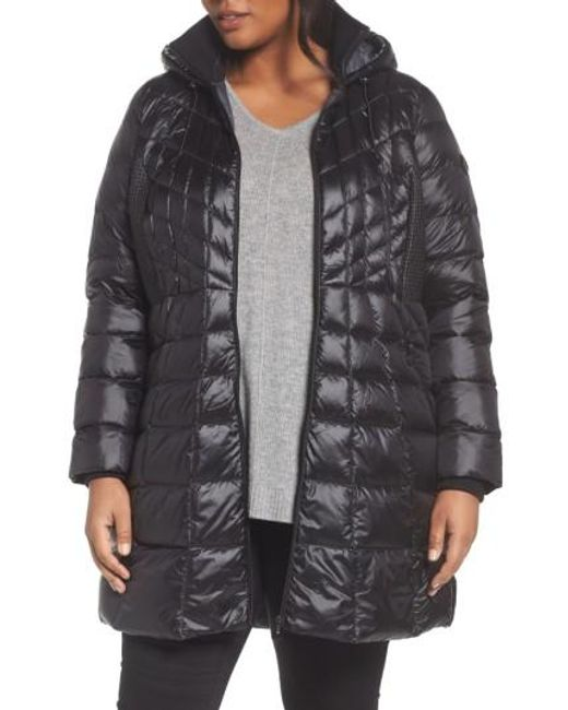 Bernardo   Black Quilted Jacket With Down & Primaloft Fill   Lyst
