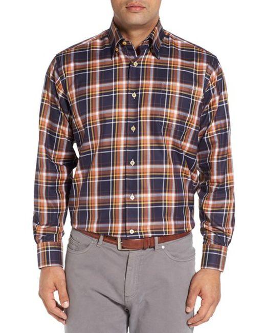 Robert talbott 39 anderson 39 classic fit plaid cotton sport for Robert talbott shirts sale