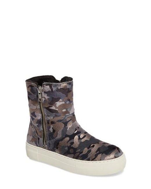 J/Slides | Multicolor Allie Faux Fur Lined Platform Boot | Lyst