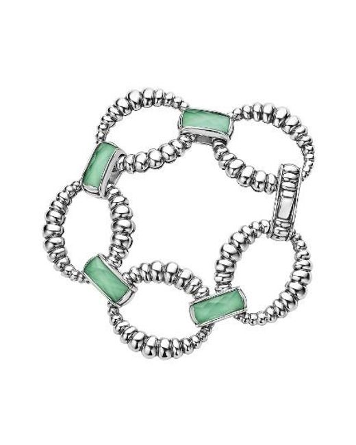 Lagos | Green Maya Fluted Link Bracelet | Lyst