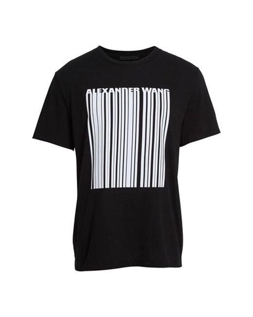 Alexander Wang Logo Barcode T Shirt In Black For Men
