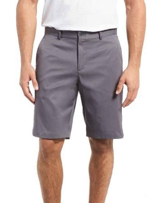 Nike   Gray Flat Front Golf Shorts for Men   Lyst