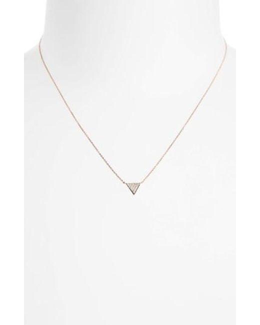 Dana Rebecca | Metallic 'emily Sarah' Diamond Triangle Pendant Necklace | Lyst