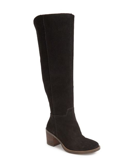 Lucky Brand | Black Desdie Suede Boots | Lyst
