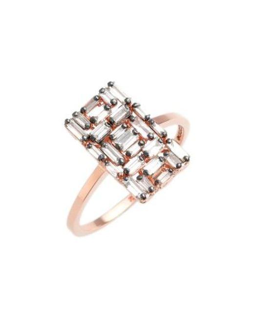 Suzanne Kalan | Metallic 'fireworks' Rectangular Baguette Diamond Ring | Lyst
