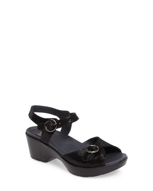 Dansko | Black June Platform Sandal | Lyst