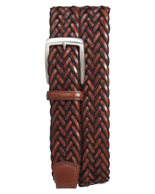 Torino Leather Company | Brown Braided Belt for Men | Lyst
