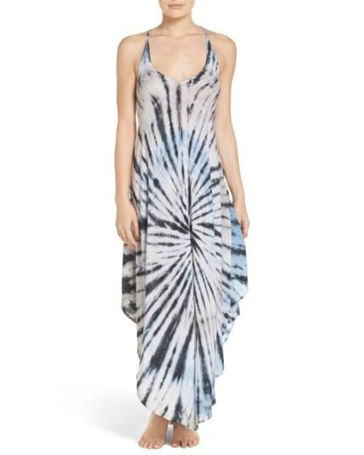 Surf Gypsy | Blue Tie Dye Cover-up Dress | Lyst