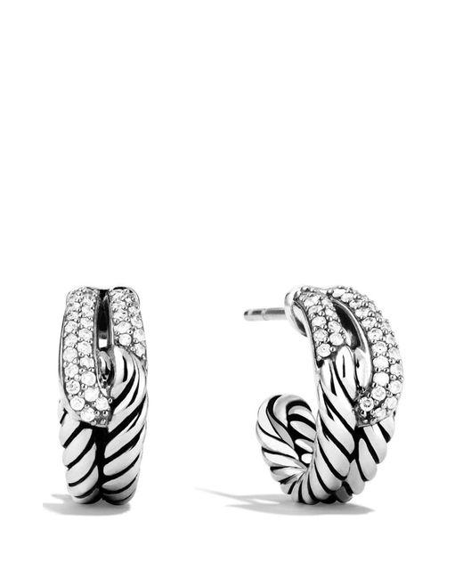 David Yurman - Multicolor 'labyrinth' Single Loop Earrings With Diamonds - Lyst