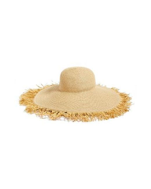 Eric Javits | Natural Fringed Squishee Packable Floppy Hat | Lyst