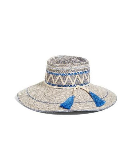 Eric Javits | Blue Palermo Squishee Wide Brim Hat | Lyst