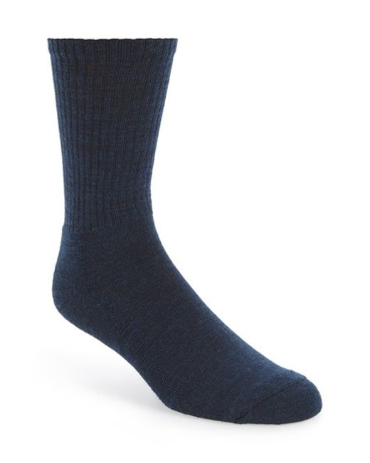 Smartwool | Blue New Heathered Ribbed Crew Socks for Men | Lyst
