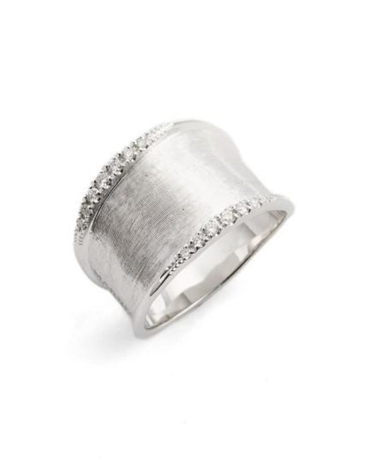 Marco Bicego | Metallic Lunaria Small Diamond Band Ring | Lyst