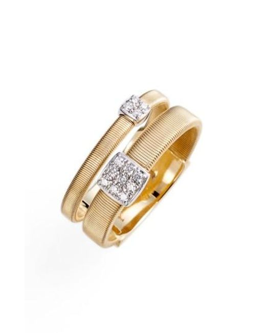 Marco Bicego | Metallic Masai Two Strand Diamond Ring | Lyst