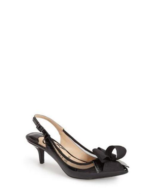 J. Reneé | Black 'garbi' Pointy Toe Bow Pump | Lyst
