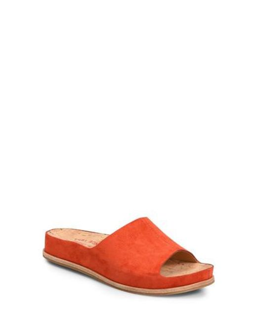 Kork-Ease - Red Kork-ease 'tutsi' Slide Sandal - Lyst