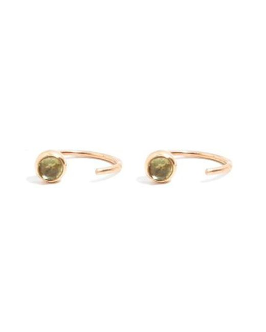 Melissa Joy Manning | Metallic Peridot Hug Hoop Earrings | Lyst