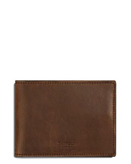 Shinola | Brown Leather Wallet for Men | Lyst