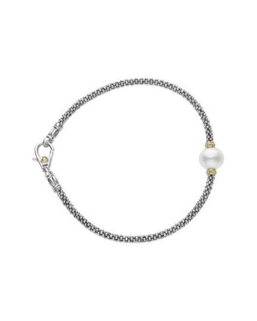 Lagos | Metallic Luna Pearl Single Station Caviar Bracelet | Lyst