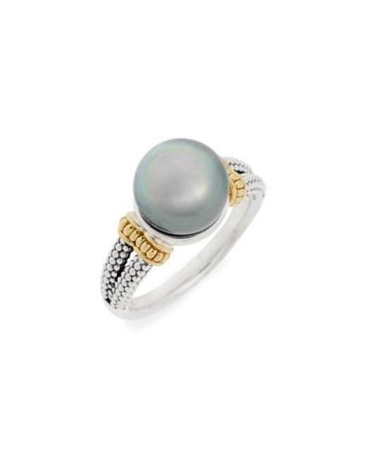Lagos | White Luna Pearl Ring | Lyst
