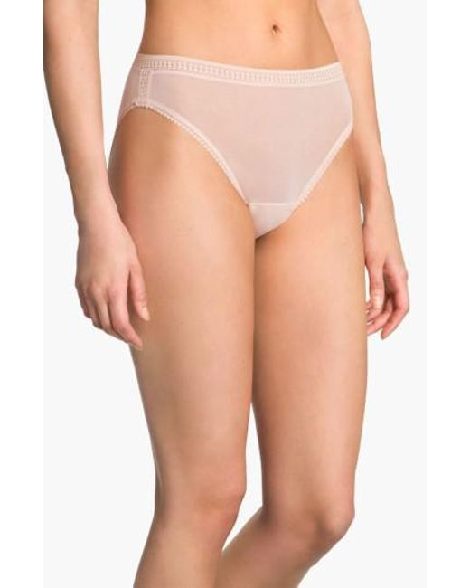 On Gossamer | Metallic High Cut Briefs | Lyst