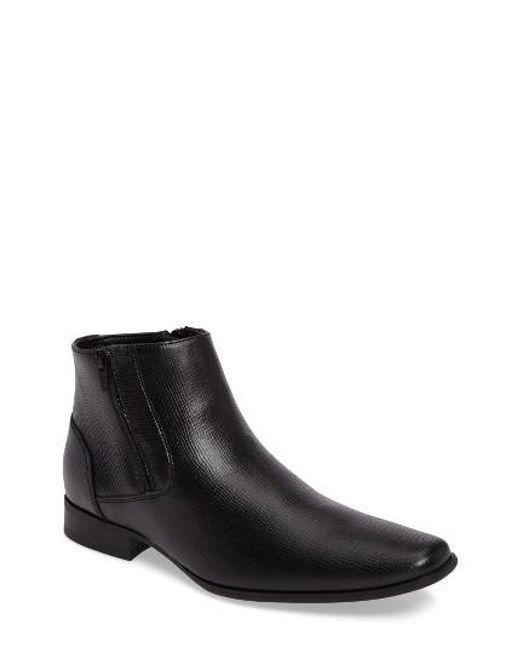 Calvin Klein | Black Beck Dual Zip Boot for Men | Lyst