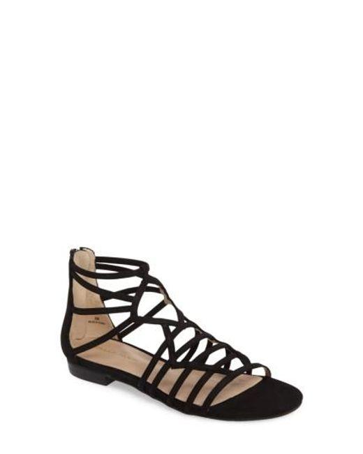 Pelle Moda | Black Brazil Strappy Sandal | Lyst