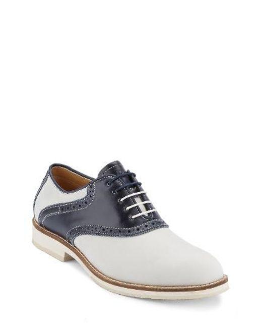 G.H. Bass & Co. | Blue Noah Saddle Shoe for Men | Lyst