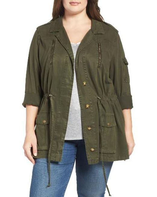Lucky Brand Soft Military Jacket In Green Lyst