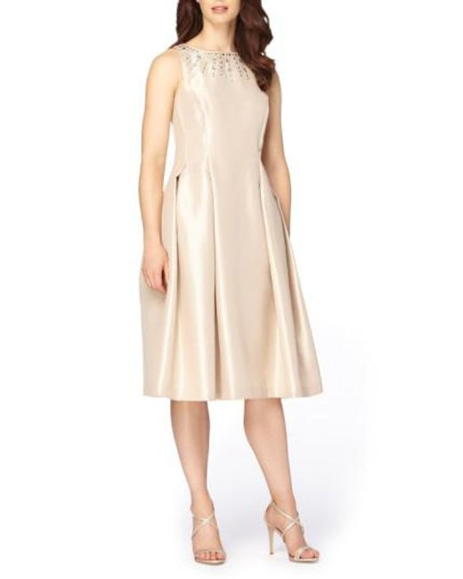 Tahari | Multicolor Embellished Fit & Flare Dress | Lyst