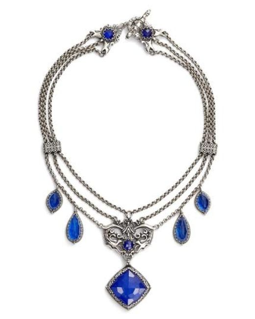 Konstantino | Metallic Andromeda Lapis Frontal Necklace | Lyst
