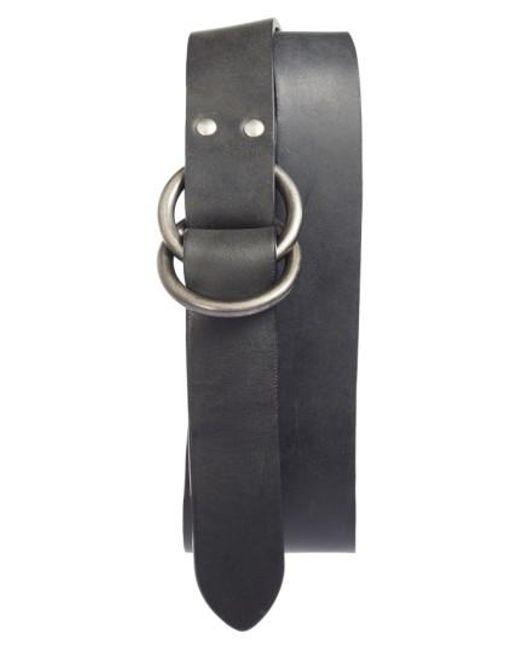 Frye | Black Harness Leather Belt | Lyst