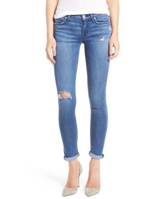 Hudson   Blue Hudson Tally Crop Skinny Jeans   Lyst