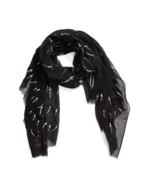 Rag & Bone | Natural Embroidered Dagger Scarf | Lyst