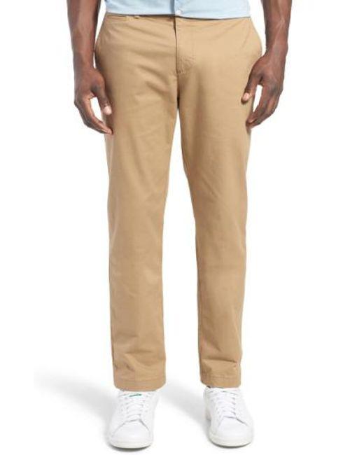 Original Penguin - Natural 'p55' Slim Fit Stretch Cotton Chinos for Men - Lyst