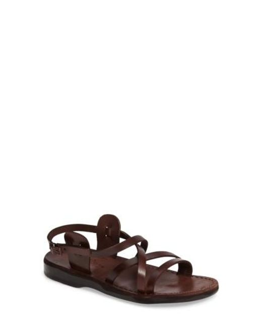 Jerusalem Sandals | Brown Tzippora Slingback Sandal | Lyst