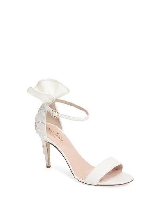 Kate Spade   White Iris Ruffle Sandal   Lyst