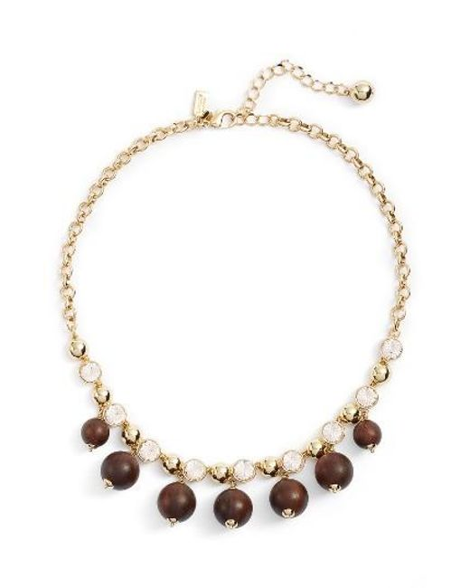 Kate Spade | Metallic Second Nature Frontal Necklace | Lyst