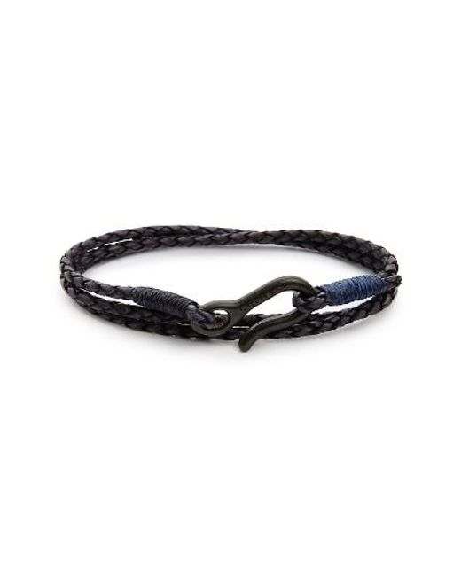 Caputo & Co. | Blue Leather Wrap Bracelet for Men | Lyst