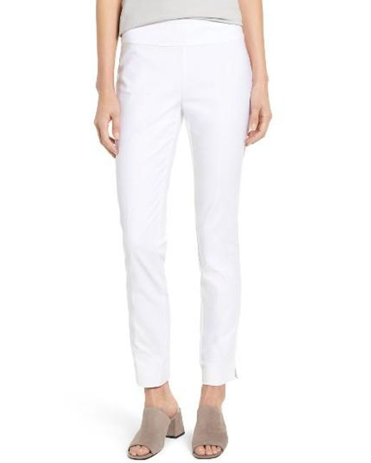 NIC+ZOE | White The Perfect Slim Ankle Pants | Lyst