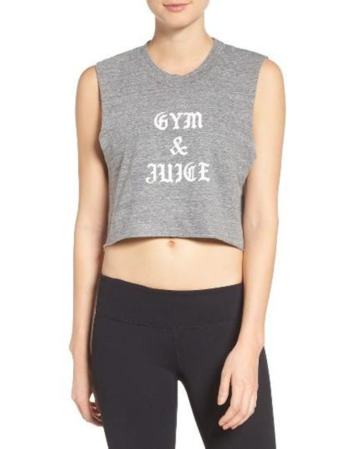 Private Party | Gray Gym & Juice Crop Tank | Lyst
