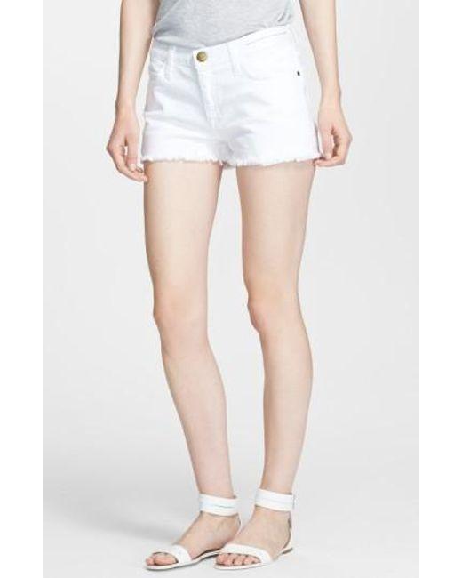 Current/Elliott | White 'the Boyfriend' Shorts | Lyst