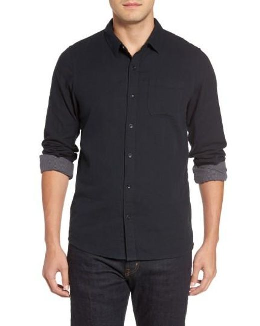 Travis Mathew | Black Slim Fit Wrinkle Free Sport Shirt for Men | Lyst