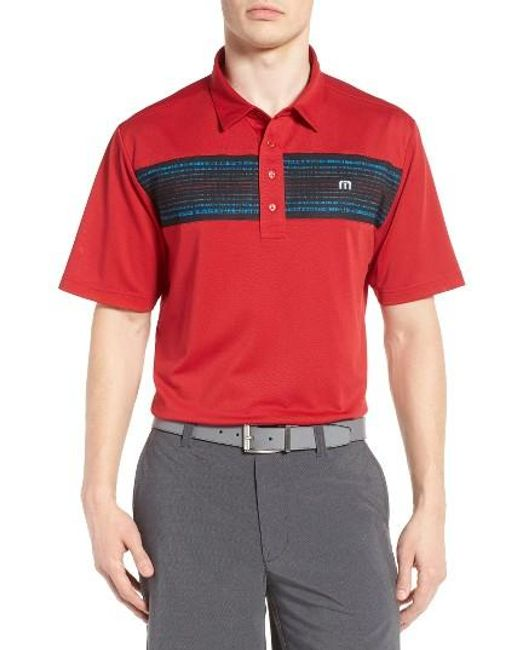 Travis Mathew   Red Lee Pique Polo for Men   Lyst