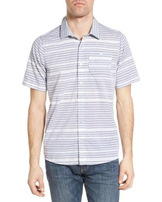 Travis Mathew | Blue Cana Slim Fit Sport Shirt for Men | Lyst