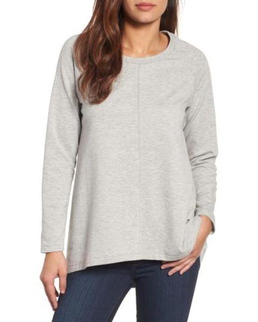 Caslon   Gray Caslon A-line Sweatshirt   Lyst