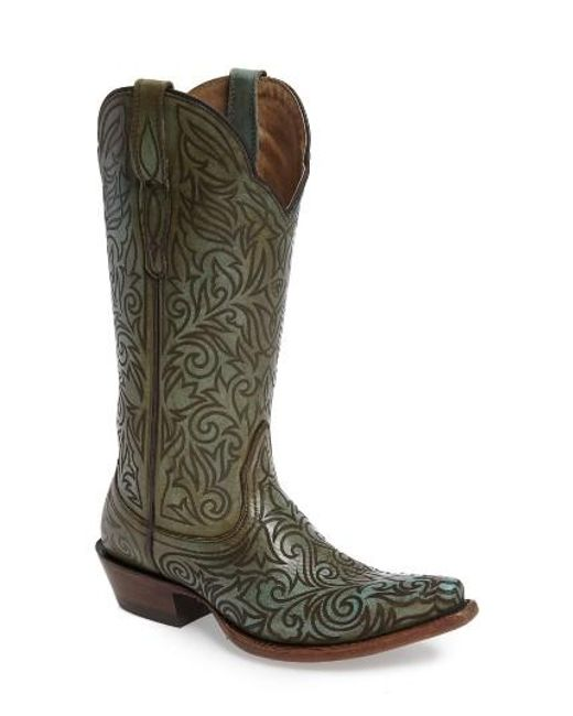 ariat sterling western boot in green lyst