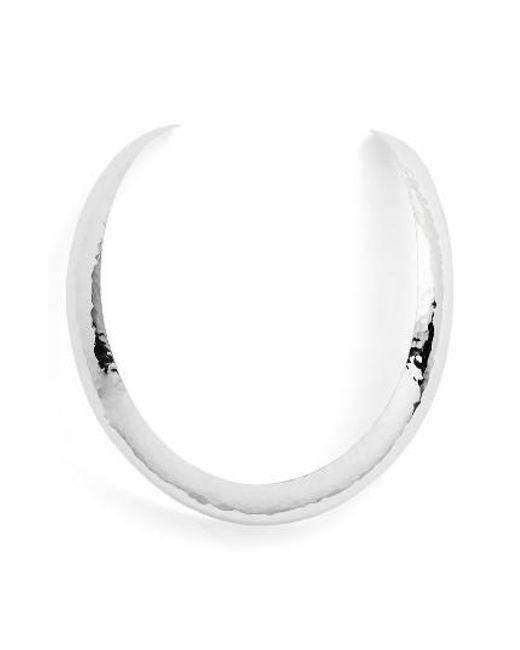 Argento Vivo | Metallic Hammered Collar Necklace | Lyst