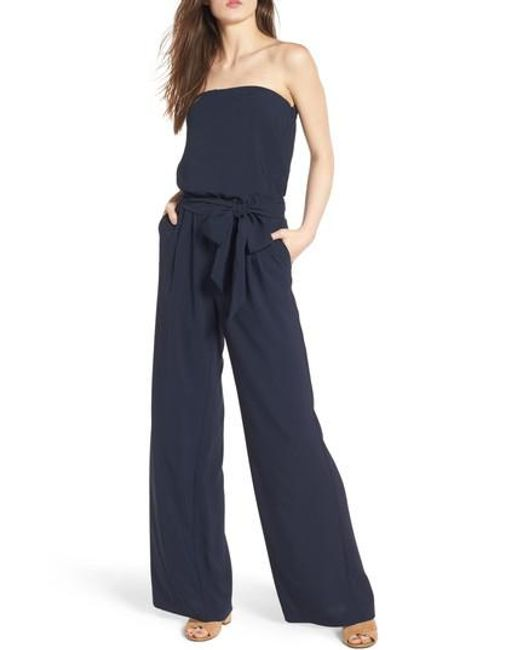 Trouvé | Blue Strapless Jumpsuit | Lyst