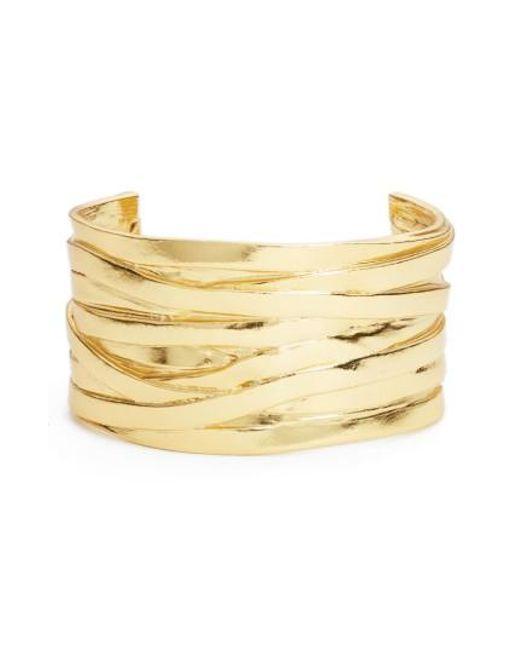 Karine Sultan   Metallic Angelique Wrist Cuff   Lyst